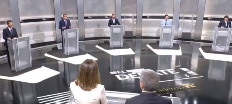 <span style='color:#780948'>ARCHIVED</span> - Pre-election debate hints at another hung parliament in Spain after the voting on Sunday