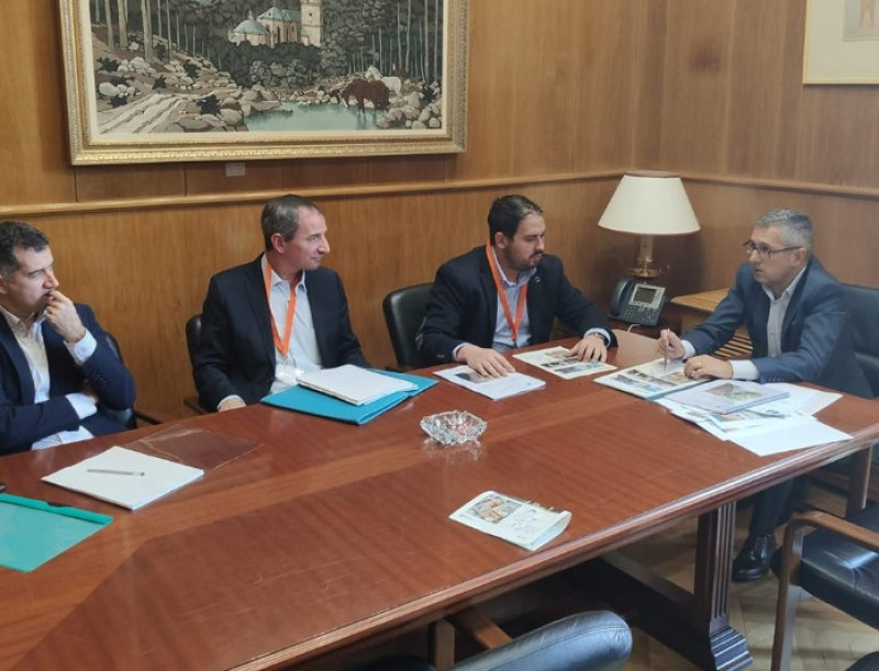 Los Alcázares Mayor presents flood prevention project in Madrid