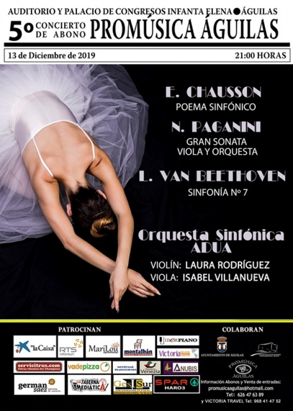 Friday 13th December the ADUA Symphony Orchestra at the Infanta Elena in Águilas