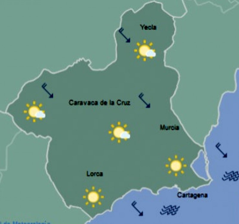 <span style='color:#780948'>ARCHIVED</span> - Snow flurries possible in northern Murcia but still up to 20 degrees on the coast this weekend