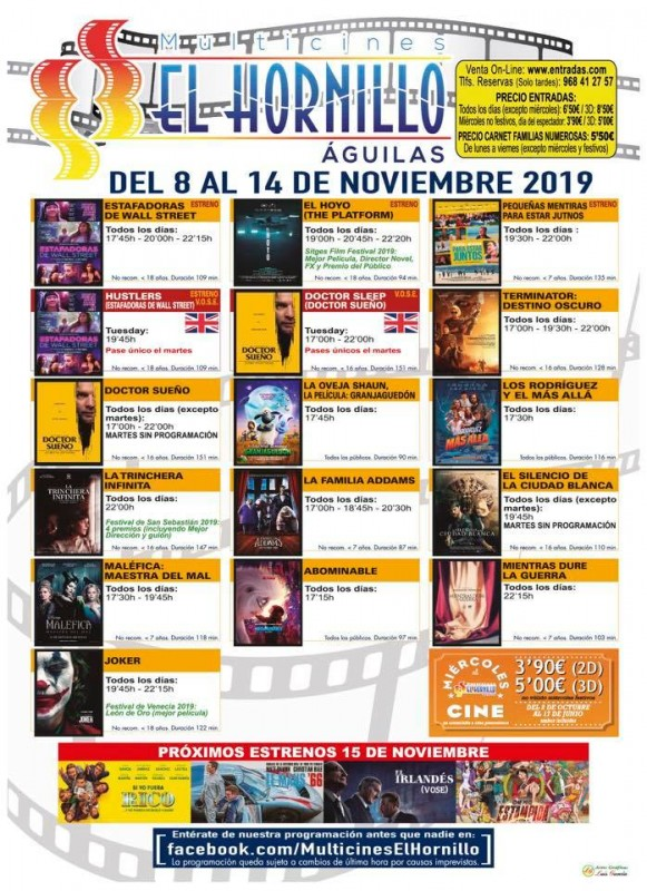 <span style='color:#780948'>ARCHIVED</span> - Tuesday 12th November ENGLISH language cinema in Águilas