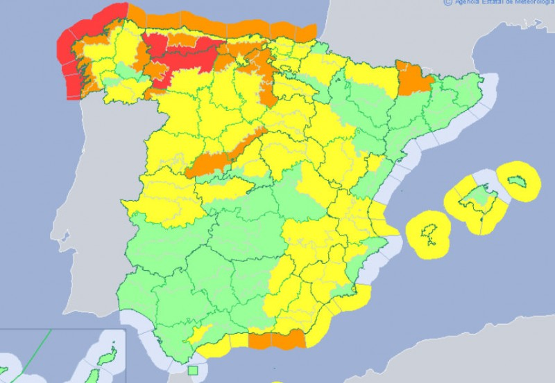 <span style='color:#780948'>ARCHIVED</span> - Severe weather alerts all over Spain, 80 cm of snow forecast in 48 hours in the north