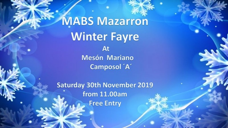 <span style='color:#780948'>ARCHIVED</span> - Saturday 30th November MABS Winter Fayre on Camposol