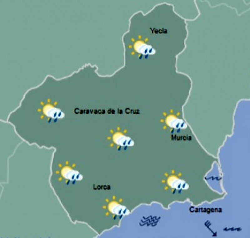 <span style='color:#780948'>ARCHIVED</span> - Bright but breezy in Murcia as minimums fall to close to zero in the north