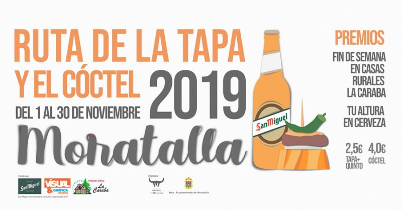 <span style='color:#780948'>ARCHIVED</span> - 1st to 30th November Moratalla tapas route