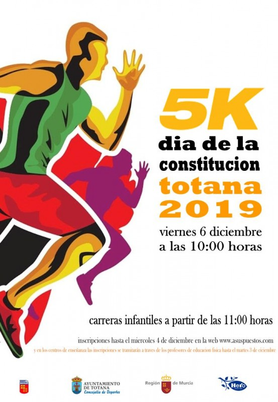 <span style='color:#780948'>ARCHIVED</span> - Friday 6th December Totana Constitution Day Running Race