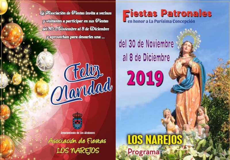 <span style='color:#780948'>ARCHIVED</span> - 30th November to 8th December Fiestas patronales in Los Narejos