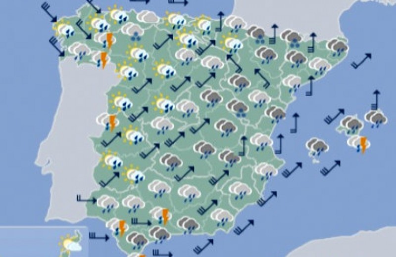 <span style='color:#780948'>ARCHIVED</span> - Gale force wind alert in Murcia on Friday and Saturday as rain spreads across Spain