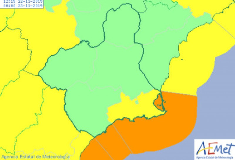 Gale force wind alert upgraded to orange on the Costa Cálida