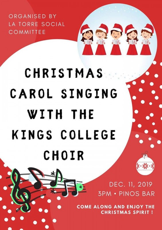 <span style='color:#780948'>ARCHIVED</span> - December 11th Christmas Carol singing with the Kings College Choir