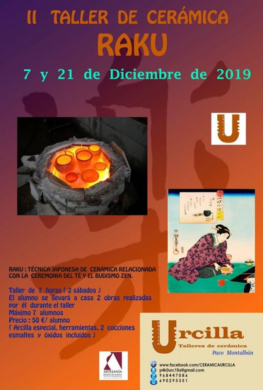 7th and 21st December Raku workshop with Urcilla ceramics in Águilas