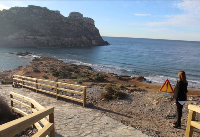 <span style='color:#780948'>ARCHIVED</span> - Access improvement work continues at Playa Amarilla in Águilas