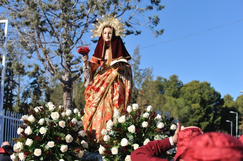 <span style='color:#780948'>ARCHIVED</span> - 8th December, Romería procession of the Bajada de Santa Eulalia in Totana