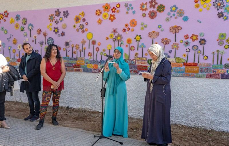 <span style='color:#780948'>ARCHIVED</span> - Ceramic mural unveiled in Cartagena to commemorate victims of gender violence