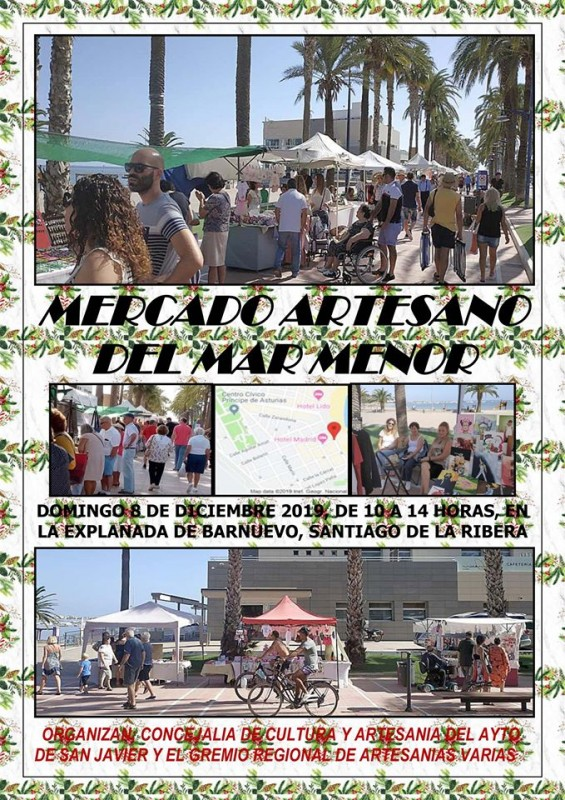 <span style='color:#780948'>ARCHIVED</span> - Sunday 8th December Artisan market of the Mar Menor