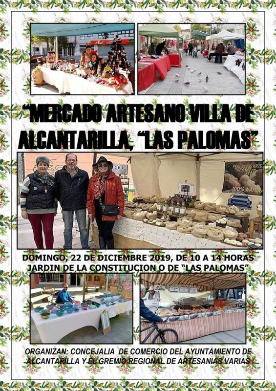 <span style='color:#780948'>ARCHIVED</span> - Sunday 22nd December 2019 Artisan market in Alcantarilla