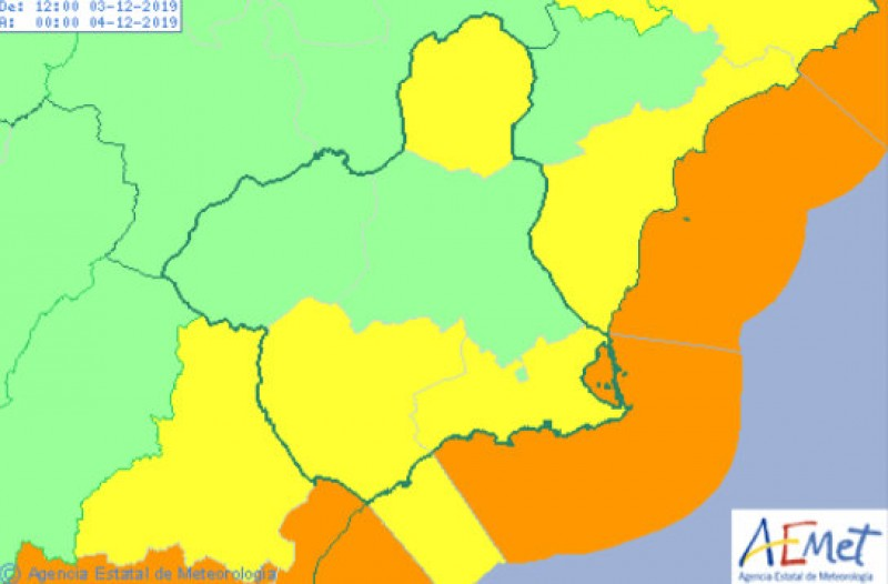 <span style='color:#780948'>ARCHIVED</span> - Rain alert downgraded to yellow as the gota fría storm eases off in Murcia