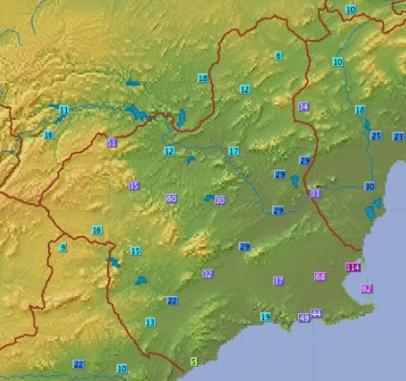 <span style='color:#780948'>ARCHIVED</span> - 124 millimetres of rain in Los Alcázares in 24 hours say the CHS