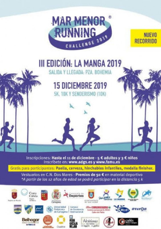 <span style='color:#780948'>ARCHIVED</span> - 15th December, Mar Menor Running Challenge in La Manga