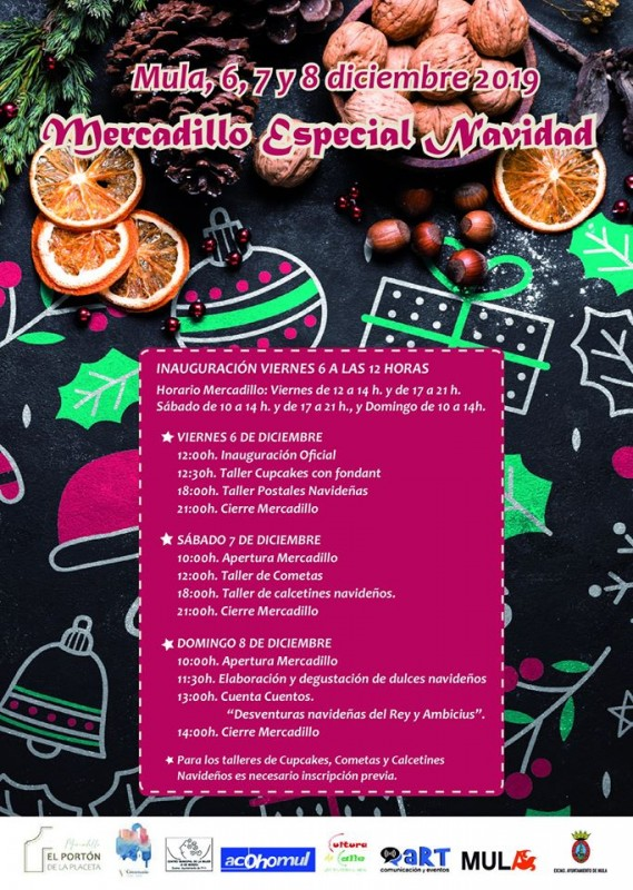 <span style='color:#780948'>ARCHIVED</span> - 6th to 8th December, Christmas Fair in Mula