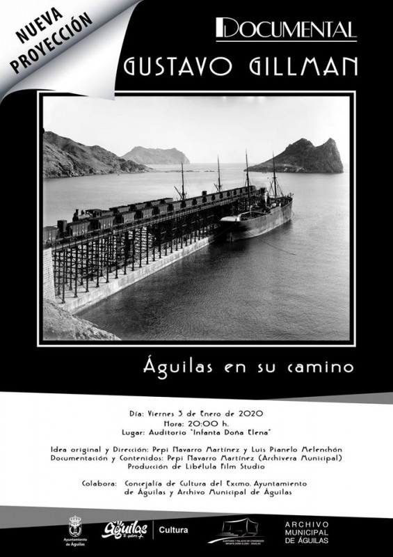 3rd January 2020 Águilas Free entry documentary about Gustavo Gillman