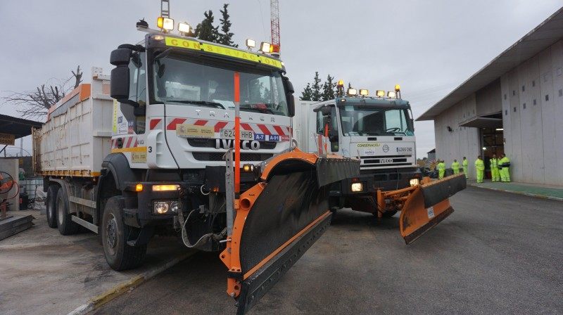 Murcia snow plough fleet at the ready for the winter
