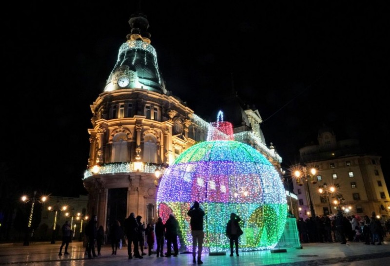 Christmas lights switched on as the festive season gets under way in Cartagena