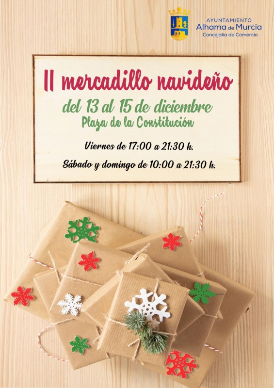 <span style='color:#780948'>ARCHIVED</span> - 13th to 15th December Alhama de Murcia Christmas Market and carol concerts