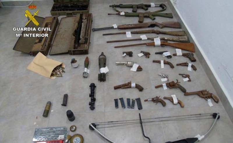 Large firearms stash found in hidden basement in Bullas
