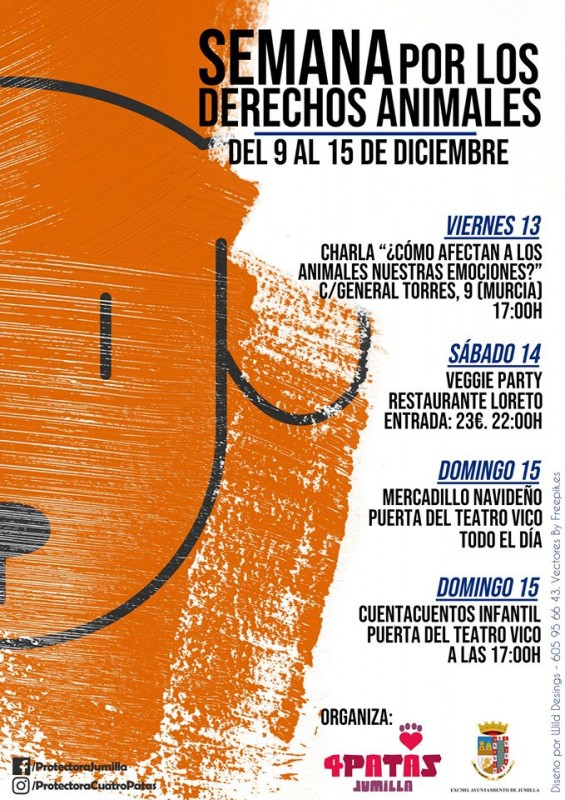 13th to 15th December Animal rights week in Jumilla including solidarity market