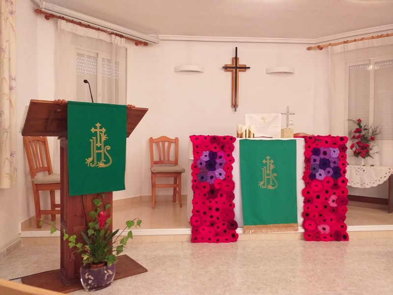 December services for the St Nicholas Ecumenical Church on Camposol
