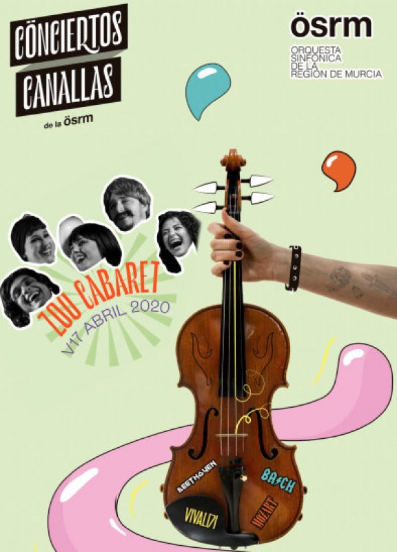 17th April, Zoo Cabaret join the OSRM at the Auditorio Víctor Villegas in Murcia  {image1}