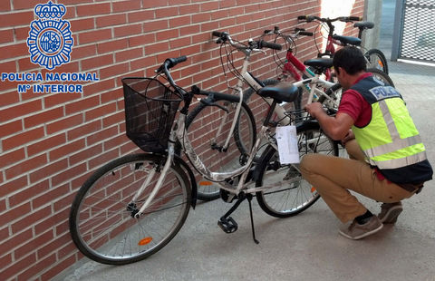 <span style='color:#780948'>ARCHIVED</span> - Apprehension of bicycle thieves makes headlines in Murcia