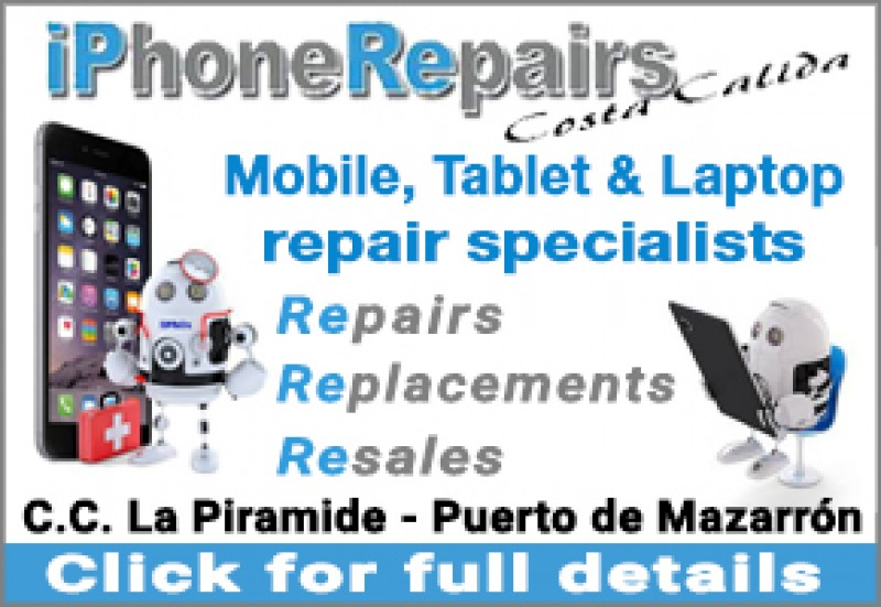 iPhone Repairs Costa Cálida - mobile, laptop and tablets repaired