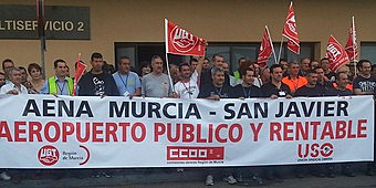 "San Javier workers protest over Corvera ""mess"""