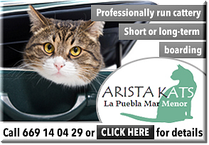 Arista Kats Cattery comfortable cat accommodation Mar Menor Murcia