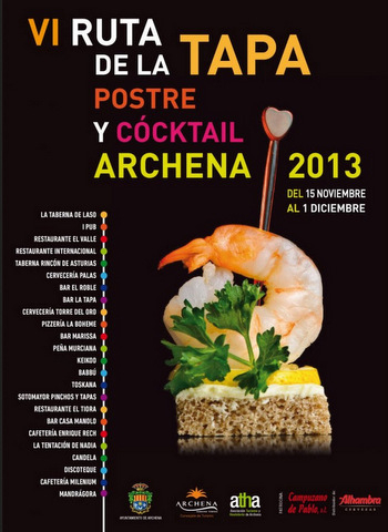 6th Ruta de la Tapa in Archena, from 15th November to 1st December
