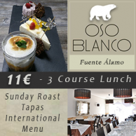 The Oso Blanco in Fuente Alamo offers the best of British and Mediterranean cuisine