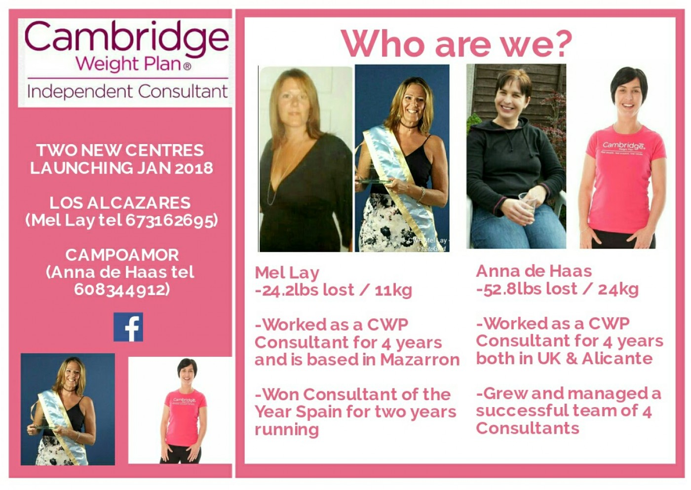 Cambridge Weight Plan Consultant in Mazarrón and Los Alcázares