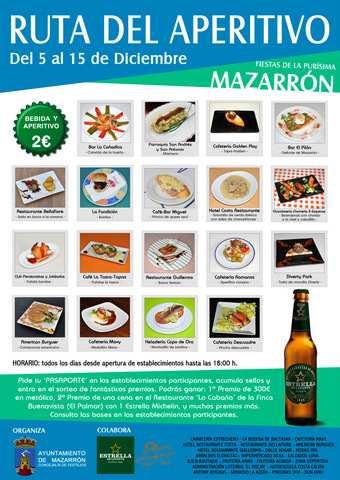 <span style='color:#780948'>ARCHIVED</span> - 5th to 15th December, Aperitifs route, Mazarrón