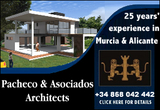 Fully qualified Architects and Planning experts Pacheco and Asociados Murcia