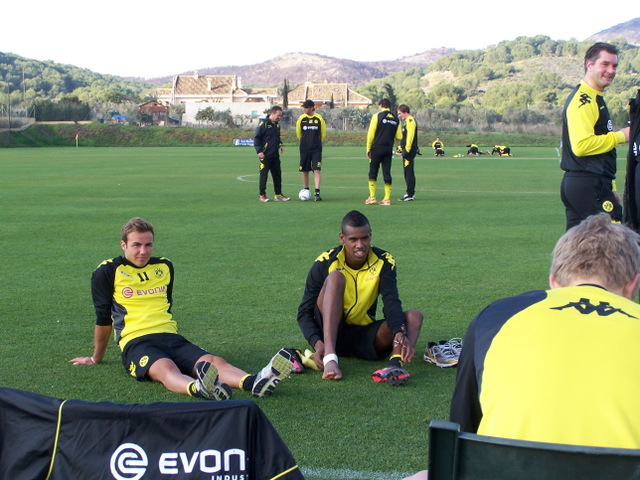 German giants Borussia Dortmund undertake mid season training at La Manga Club