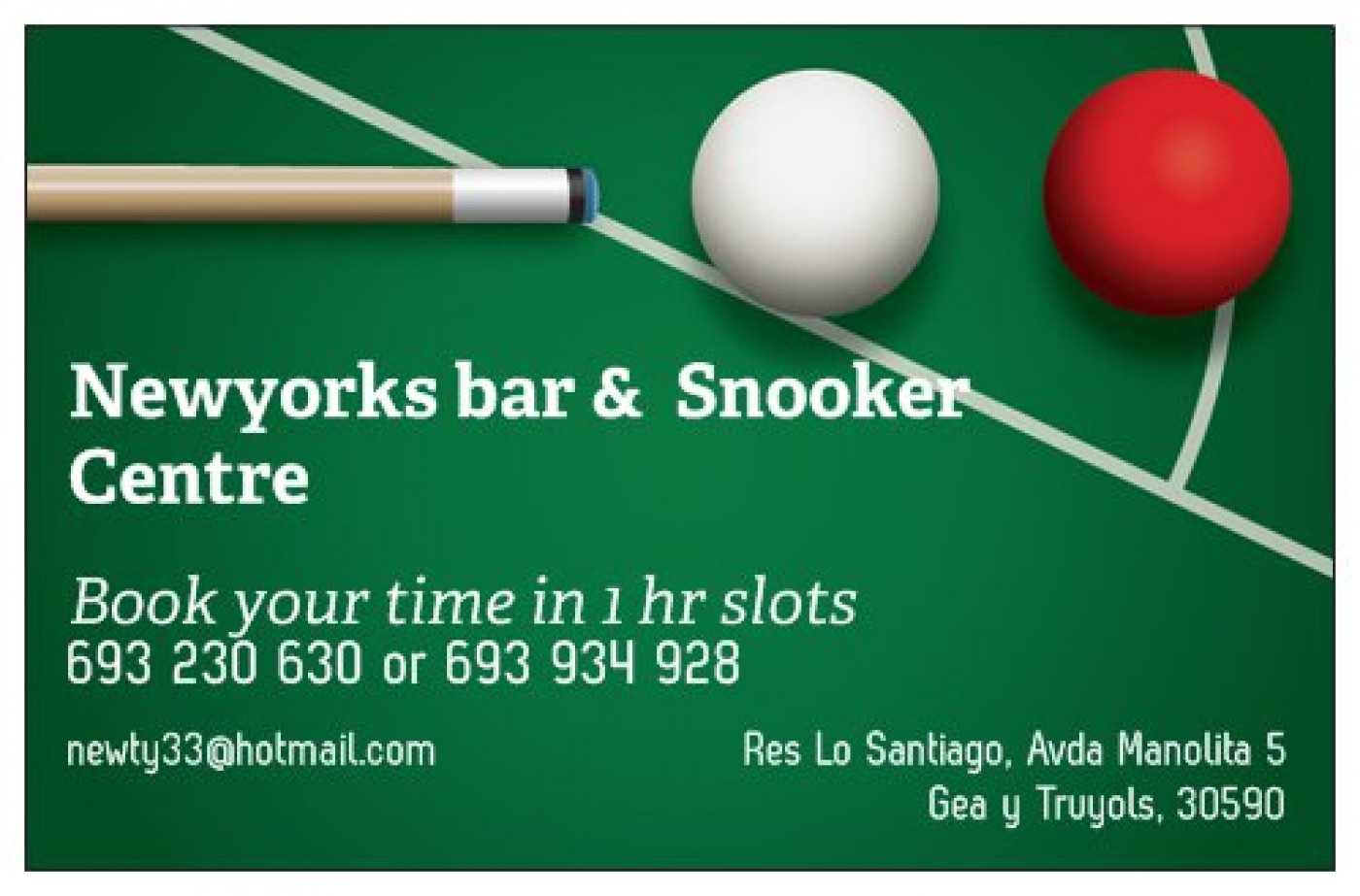 New Yorks bar, restaurant and snooker centre