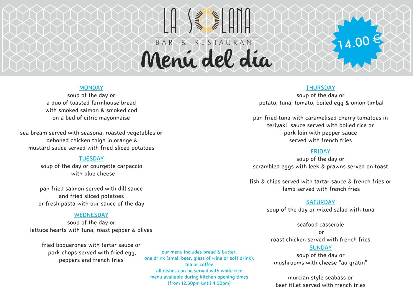 La Solana Bar and Restaurant at La Manga Club