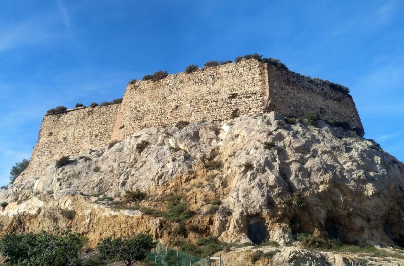 The castle of Despeñaperros in Cartagena