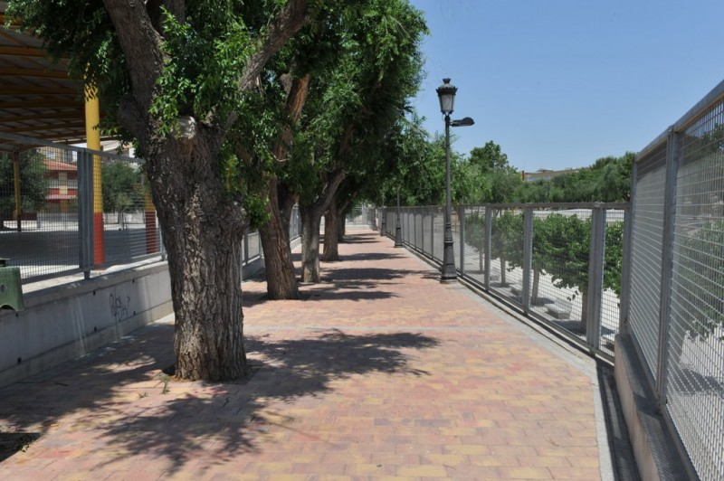 Rambla de los Calderones, a flood channel and public park in Molina de Segura