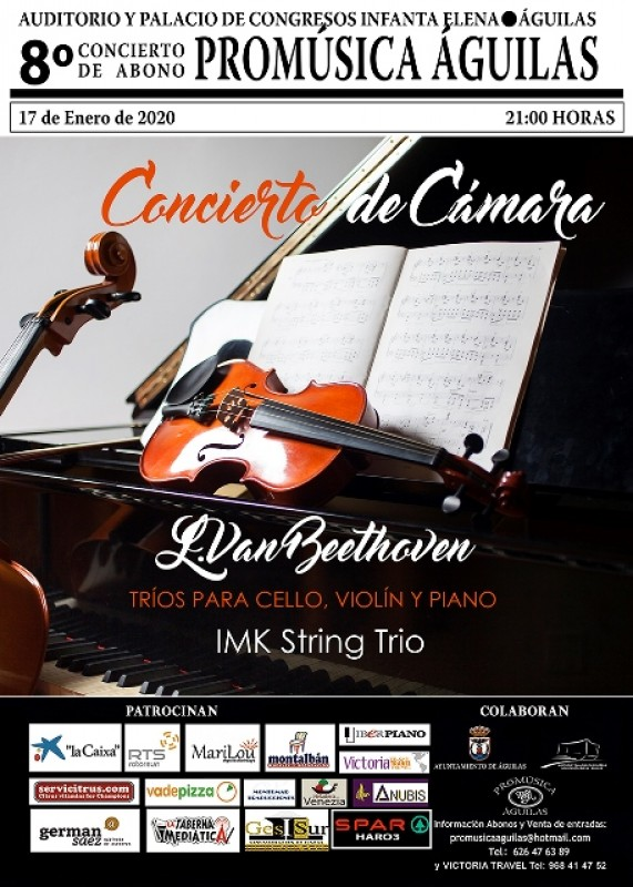 <span style='color:#780948'>ARCHIVED</span> - 17th January Classical chamber music at the Infanta Elena Auditorium in Águilas