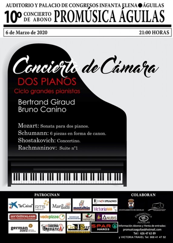 6th March Chamber music for two pianos in Águilas