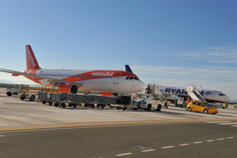 Flights to and from the Murcia airport in Corvera during 2020