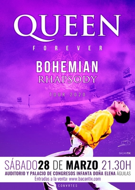 Saturday 28th March Forever Queen at the Águilas Auditorium